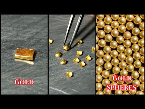 How to Make Gold Hollow Spheres   Jewellery Making   Hollow Gold Balls Making   Gold Smith Jack
