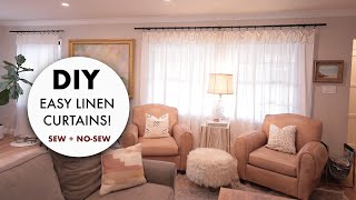 DIY: How To Make EASY Linen Curtains (Sew + No Sew) -By Orly Shani