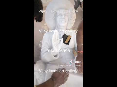 Marble Sathya Sai Baba Marble Statue