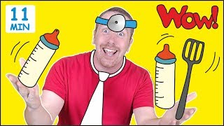 Jobs for Kids + MORE Fun Speaking Stories for Children from Steve and Maggie | Learn Wow English TV - Video Youtube