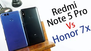 Redmi Note 5 Pro vs Honor 7X Comparison