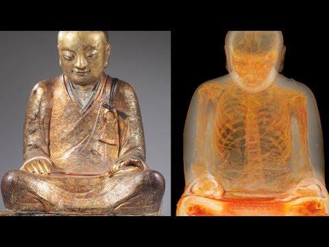 Forscher untersuchen die Buddha Statue - was sie finden ist unglaublich