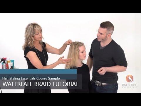 Hair Styling Essentials Course Sample: Waterfall Braid Tutorial ...