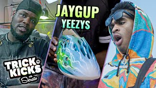 Making Size 15 YEEZY Customs For Josh Christopher, AKA Jaygup! HE COULDN'T BELIEVE IT 🤯