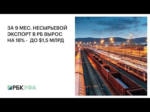 За 9 мес. несырьевой экспорт РБ вырос на 18% - до $1,5 млрд, РБК ТВ Уфа.