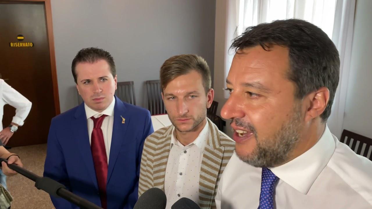 """Salvini a Cologno al Serio: """"Bergamaschi i più colpiti dal Covid ma primi a rialzarsi"""""""