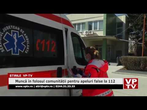 Muncă în folosul comunității pentru apeluri false la 112