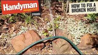 How to fix a leaking garden hose & How to Repair a Garden Hose - Hose Repair Video by Gilmour - Most ...