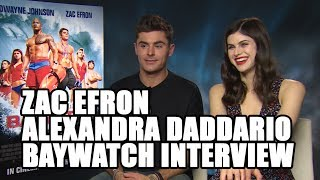 Zac Efron and Alexandra Daddario - Baywatch Exclusive Interview