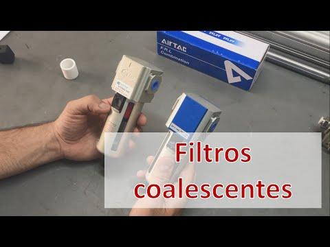 Filtro coalescente para ar comprimido