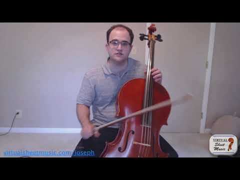 How to study Dotzauer Etude No. 4 - Bow Distrbution