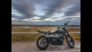 TRIUMPH STREET SCRAMBLER BRITISH CUSTOMS SHOTGUN SLIPON EXHAUST