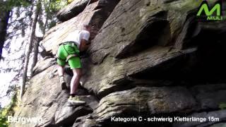 preview picture of video 'Klettersteig - Wolkensteiner Schweiz - Bergweg'