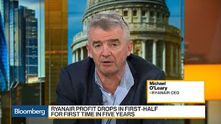 Ryanair's O'Leary Says Happy to Continue as CEO for 2 to 3 Years