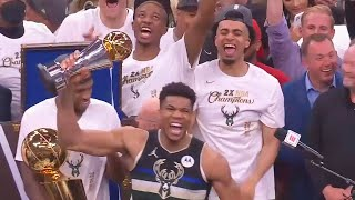 Giannis Finally Wins A NBA Championship With Bucks After 50 Years In Game 6 vs Suns!