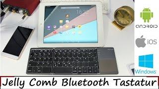 28€ Faltbare Bluetooth Tastatur mit Touchpad von Jelly Comb - Android - iOS - Windows