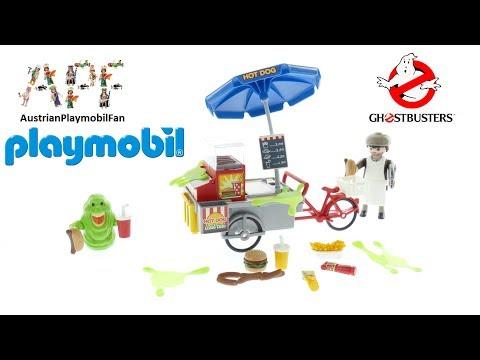 Vidéo PLAYMOBIL Ghostbusters 9222 : Bouffe-tout avec stand de hot-dog