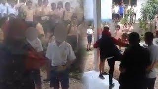 Viral Guru Tempeleng 2 Siswa SMP di Sekolah, Dilakukan di Halaman dan Disaksikan Puluhan Siswa Lain