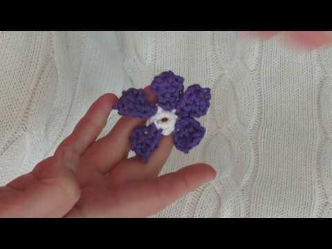 Veilchen Häkeln Für Blumenstrauß смотреть онлайн на Hahlife