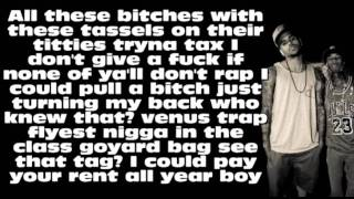 Tyga ft. Chris Brown - Snapbacks Back [Lyrics On Screen]
