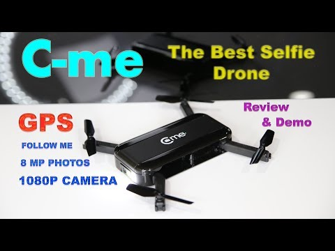The amazing C-ME Selfie Camera Drone with GPS – Review & Demo