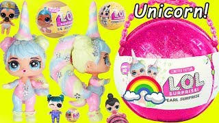 Unicorn LOL Surprise Dolls BIG Custom Doll with Slime and Lil Sister Punk Girl Wedding Boi at School