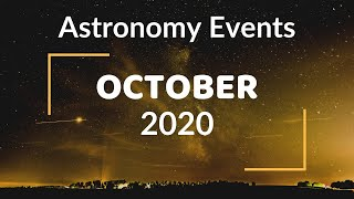 Top Astronomy Events In October 2020 | Halloween Blue Moon