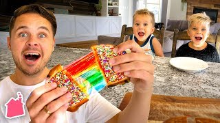 Trying Rainbow Grilled Cheese!