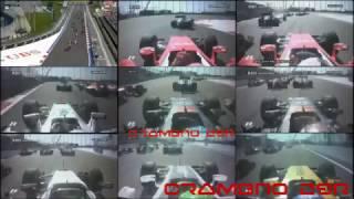 Смотреть онлайн Формула-1: Подборка аварий от первого лица