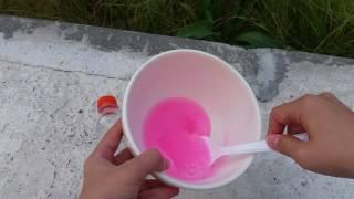 Traş Köpüğü Olmadan Pofuduk Fosforlu Pembe Renginde Bir Slime Yaptık!!! DESTO Bulaşık Deterjanı Ile!