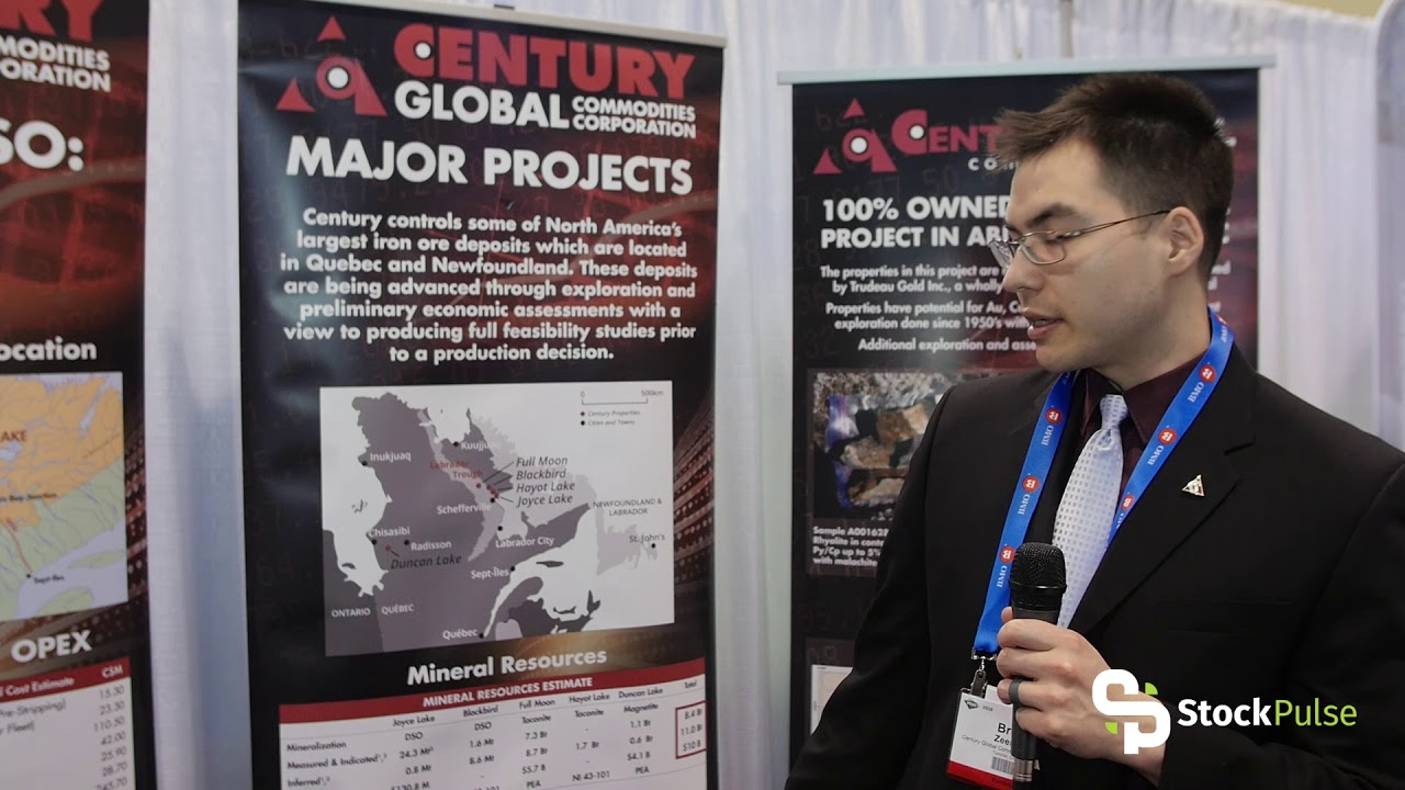 Century Global Commodities Catalyst Clip with Mining Engineer Brant Zeeman at the 2018 PDAC in Toronto