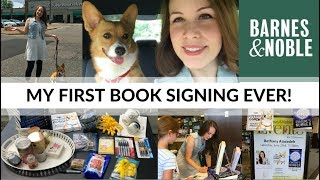 AUTHOR VLOG | Barnes & Noble Book Signing | My First Book Signing Ever!