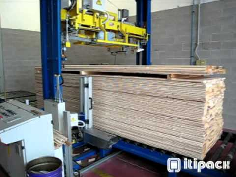 Strapping machine for wood -VKE/F 4APF From Trio Packaging Systems