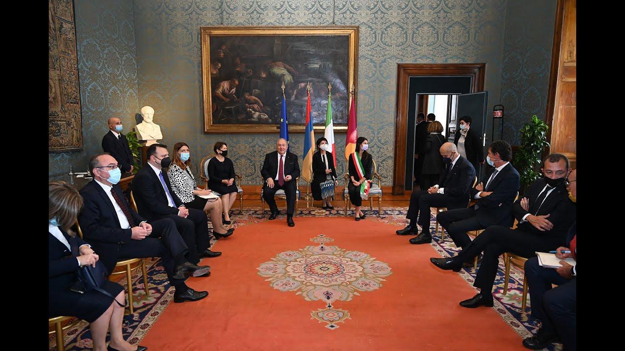 У нас большой потенциал взаимодействия: президент Армен Саркисян встретился с мэром Рима