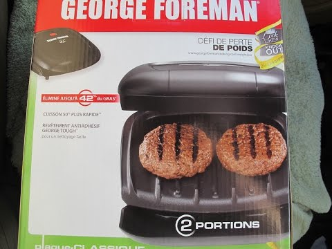 , George Foreman 2-Serving Classic Plate Electric Indoor Grill and Panini Press, Black, GR10B