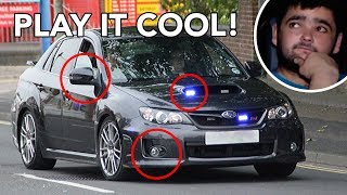 How to spot unmarked UK Police Cars!