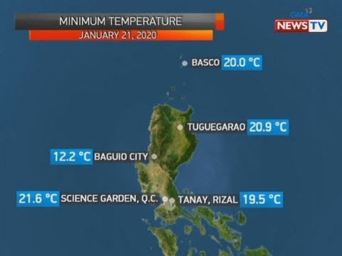 BT: Weather update as of 12:34 p.m. (Jan. 21, 2020)