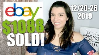 What Sold Over Christmas on eBay? $1088 in Sales!