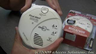First Alert's One Link Voice Sounding Smoke and CO Alarm explanation and un-boxing video