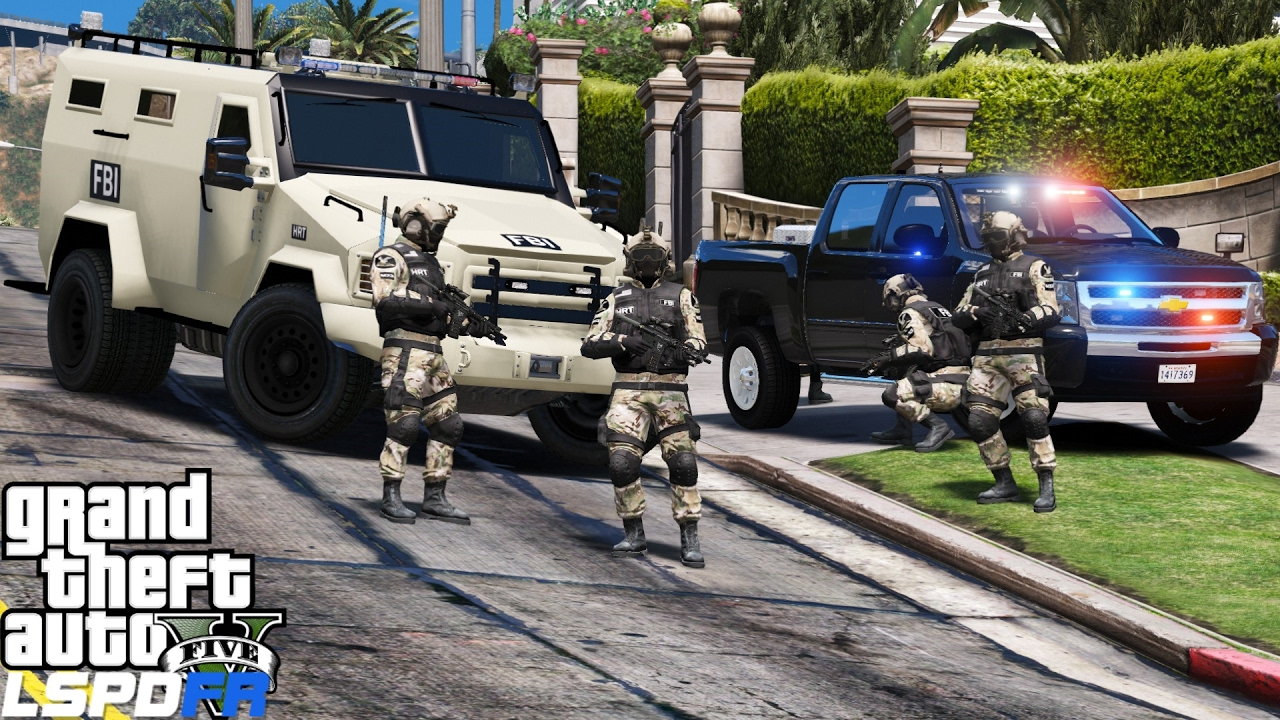 GTA 5 LSPDFR Police Mod 362 | FBI Hostage Rescue Team