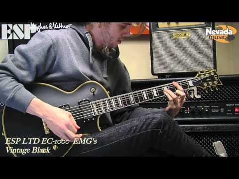 ESP LTD EC 1000 Vintage Black with EMG's - Sam Bell @ PMT
