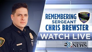 LIVE: Community gathers to honor HPD Sgt. Christopher Brewster at funeral