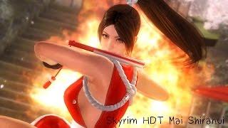 Skyrim Mai Shiranui HDT HAIR By 3DMGame Suddenly Fainted