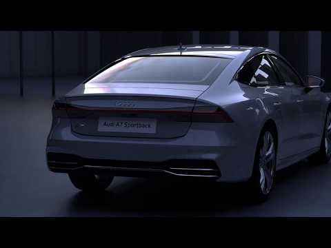 Audi A7 2017 Lichtdesign animation