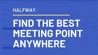 Find halfway between multiple locations | Route Halfway Point Calculator