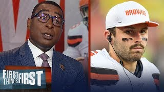 Cris Carter offers advice to Baker Mayfield after Daniel Jones comments | NFL | FIRST THINGS FIRST