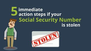 5 Immediate Action Steps if Your Social Security Number is Stolen