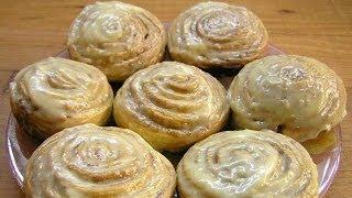 Смотреть онлайн Мягкие булочки с корицей: рецепт приготовления