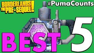 Top 5 Best Shields in Borderlands: The Pre-Sequel! #PumaCounts