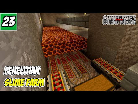 Killing Chamber dan Collector Point Slime Farm - Minecraft PE Survival Indonesia #23